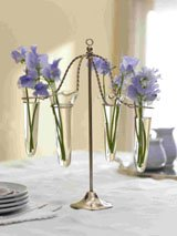 Carousel Vase<BR><BR>Antique Nickel, Glass