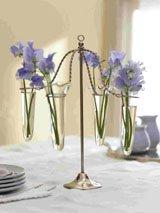 Carousel Vase<BR><BR>Antique Nickel, Glass