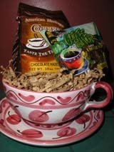 basket coffee gift holiday